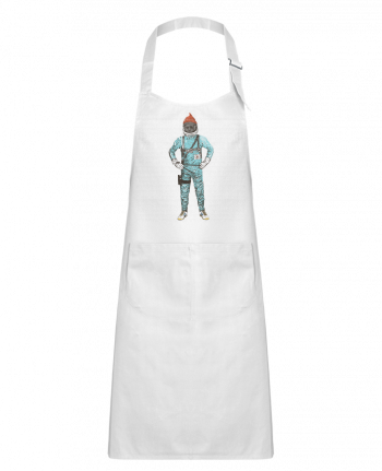 Kids chef pocket apron Zissou in space by Florent Bodart