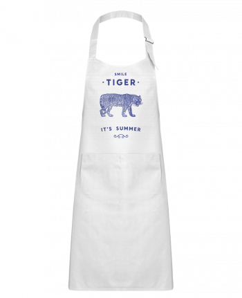 Kids chef pocket apron Smile Tiger by Florent Bodart