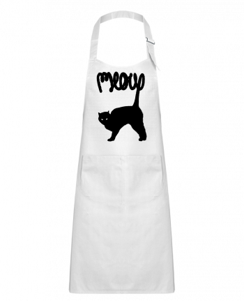 Kids chef pocket apron Meow by Florent Bodart