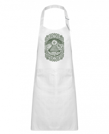 Kids chef pocket apron In block we trust by Florent Bodart
