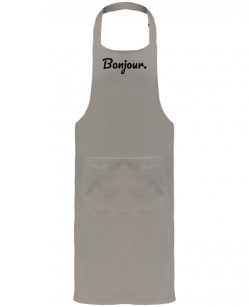 Garden or Sommelier Apron with Pocket Bonjour. by tunetoo