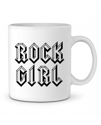 Ceramic Mug Rock Girl by Freeyourshirt.com