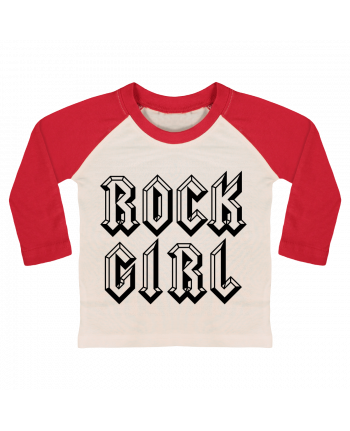 T-shirt baby Baseball long sleeve Rock Girl by Freeyourshirt.com