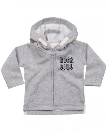Hoddie with zip for baby Rock Girl by Freeyourshirt.com