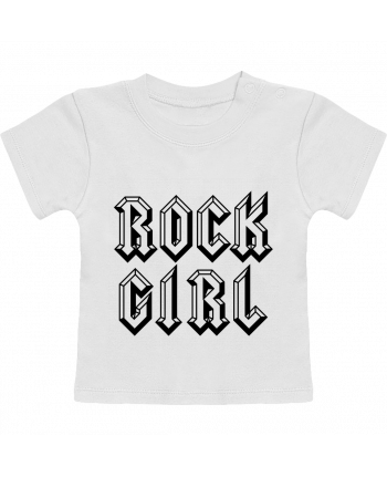 T-Shirt Baby Short Sleeve Rock Girl manches courtes du designer Freeyourshirt.com