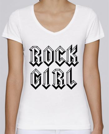 T-Shirt V-Neck Women Stella Chooses Rock Girl by Freeyourshirt.com