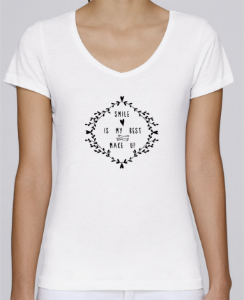 T-Shirt V-Neck Women Stella Chooses Smile is my best make up by Les Caprices de Filles