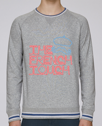 sweatshirt crew neck Men Stanley Strolls Tipped The French Touch by Freeyourshirt.com