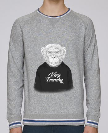 sweatshirt crew neck Men Stanley Strolls Tipped Monkey Very Frenchy by Bellec