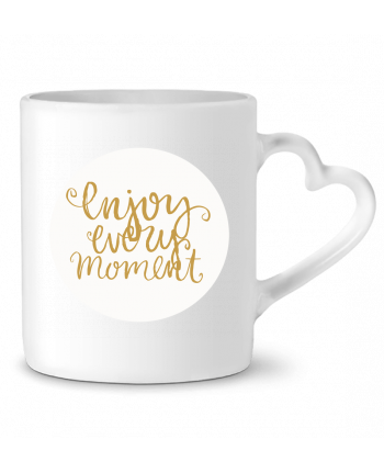 Mug Heart Enjoy every moment by Les Caprices de Filles
