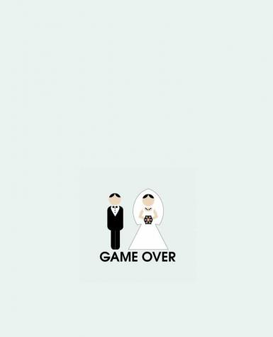 Tote Bag cotton game over mariage by DUPOND jee