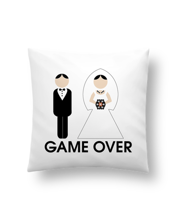 Cushion synthetic soft 45 x 45 cm game over mariage by DUPOND jee