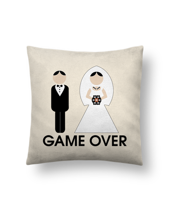 Cushion suede touch 45 x 45 cm game over mariage by DUPOND jee