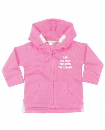 Hoddie with zip for baby Dad the man, the myth, the legend by Bichette