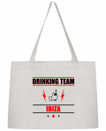 Shopping tote bag Stanley Stella Drinking Team Ibiza by Benichan