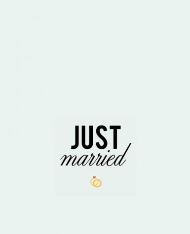 Tote Bag cotton Just married by tunetoo