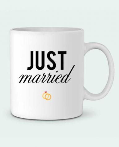 Ceramic Mug Just married by tunetoo