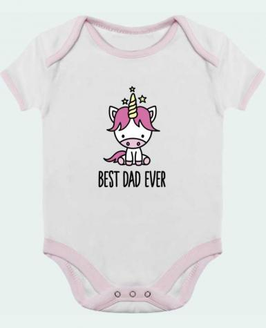 Baby Body Contrast Best dad ever by LaundryFactory