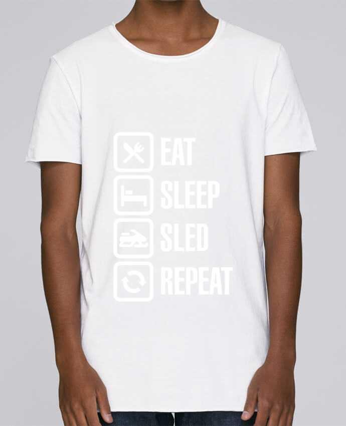 T-shirt Men Oversized Stanley Skates Eat, sleep, sled, repeat by LaundryFactory