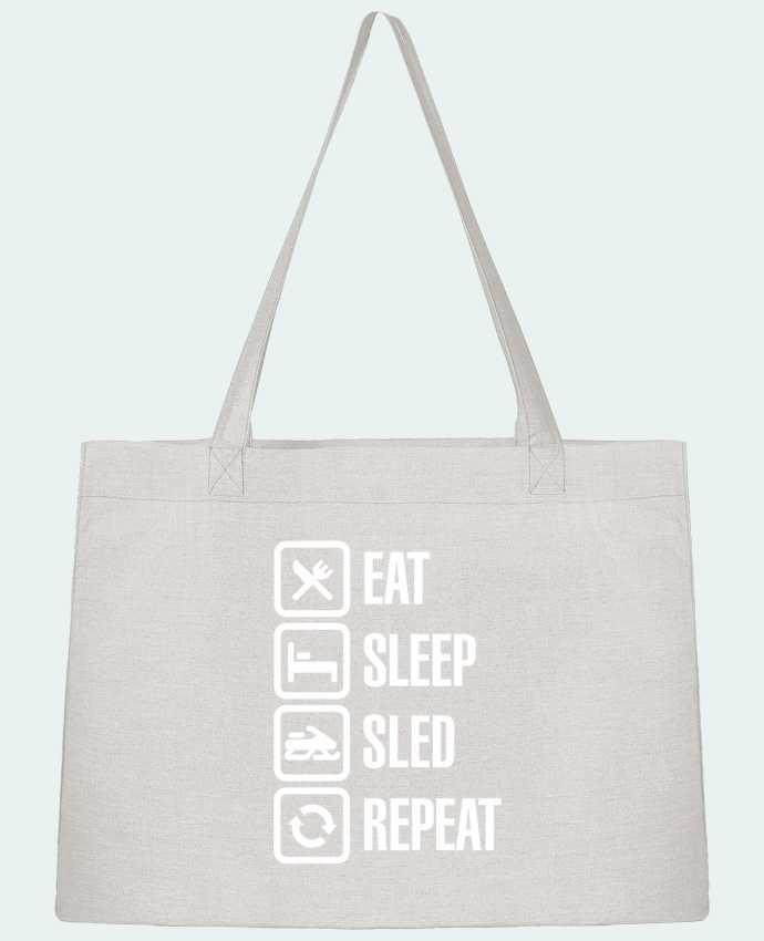 Shopping tote bag Stanley Stella Eat, sleep, sled, repeat by LaundryFactory