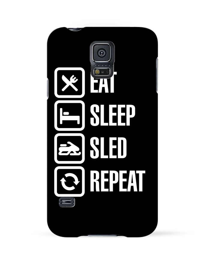 Case 3D Samsung Galaxy S5 Eat, sleep, sled, repeat by LaundryFactory