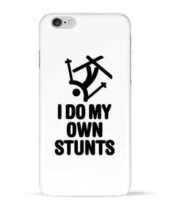 Case 3D iPhone 6 I DO MY OWN STUNTS SKI Black by LaundryFactory