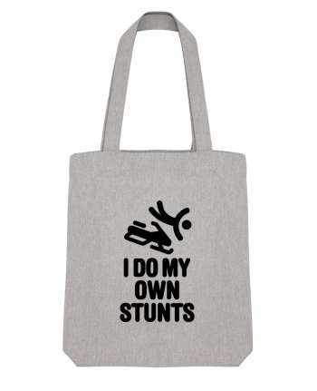 Tote Bag Stanley Stella I DO MY OWN STUNTS SNOW Black by LaundryFactory