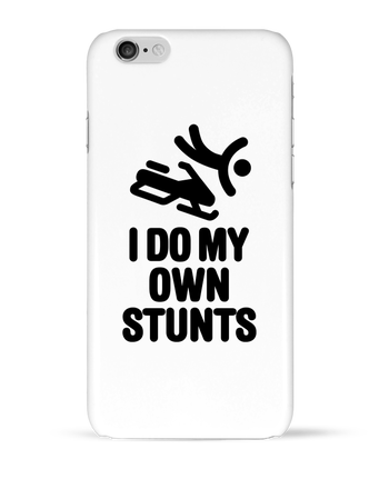 Case 3D iPhone 6 I DO MY OWN STUNTS SNOW Black by LaundryFactory