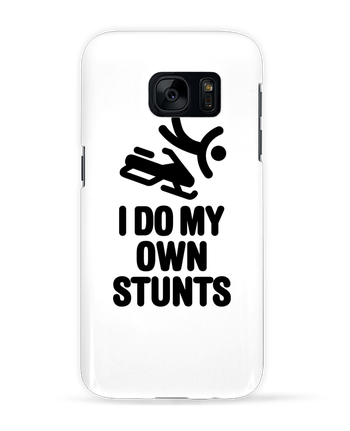 Case 3D Samsung Galaxy S7 I DO MY OWN STUNTS SNOW Black by LaundryFactory
