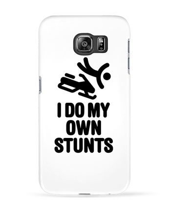 Case 3D Samsung Galaxy S6 I DO MY OWN STUNTS SNOW Black - LaundryFactory