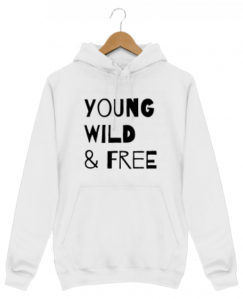 Hoodie Men YOUNG, WILD, FREE by tunetoo