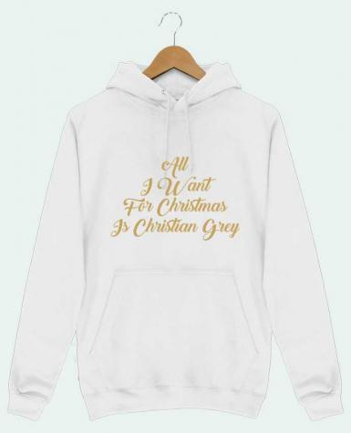 Hoodie Men All I want for Christmas is Christian Grey by tunetoo