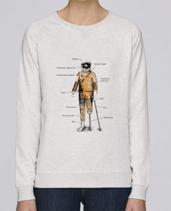 sweatshirt Women crew neck Stella Trips Astropirate with text by Florent Bodart