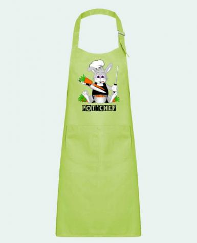 Kids chef pocket apron Lapin Pot\'Chef by CoeurDeChoux