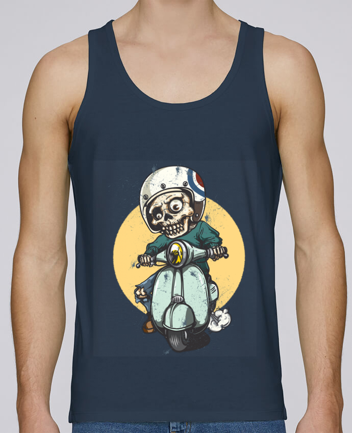 Tank Top Men Stanley Runs Organic cotton art design by omgraphiste 100% coton bio