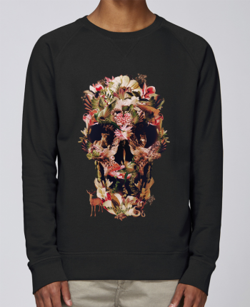 sweatshirt Men crew neck Stanley Strolls Jungle Skull by ali_gulec