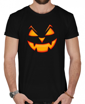 T-Shirt Men 180g Halloween pumpkin face by tunetoo