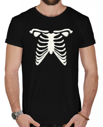 T-Shirt Men 180g Halloween skeleton by tunetoo