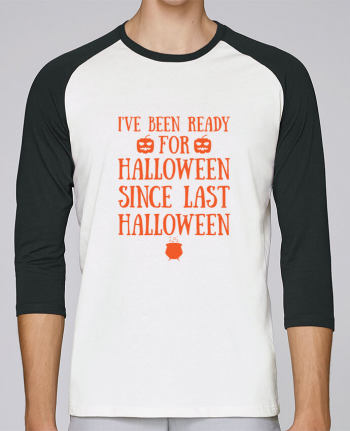 T-shirt Baseball crew-neck unisex stanley stella Ready for Halloween by tunetoo