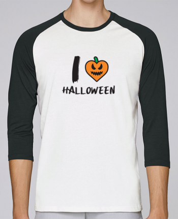 T-shirt Baseball crew-neck unisex stanley stella I Love Halloween by tunetoo