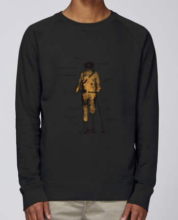 sweatshirt Men crew neck Stanley Strolls Astropirate with text by Florent Bodart