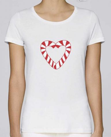 T-shirt Women Stella Loves Christmas Candy Cane Heart by tunetoo