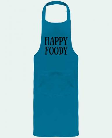 Garden or Sommelier Apron with Pocket Happy Foody by tunetoo
