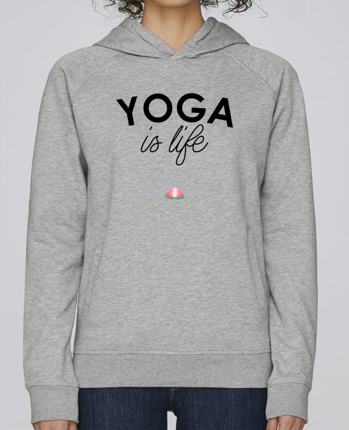 Hoodie Raglan sleeve welt pocket Yoga is life by tunetoo