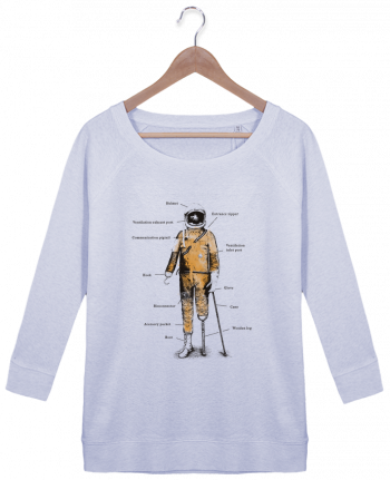 Sweatshirt Women 3/4 sleeve Stella Amazes Tencel Astropirate with text by Florent Bodart