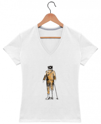 T-Shirt V-Neck Women Astropirate by Florent Bodart