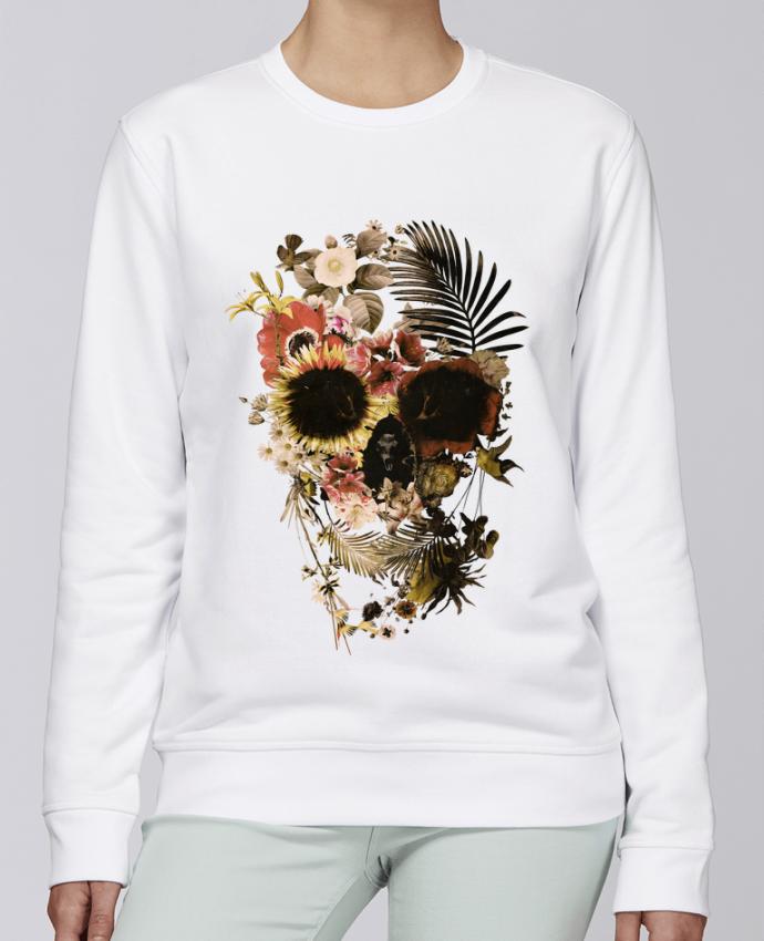 Unisex Sweatshirt Crewneck Medium Fit Rise Garden Skull by ali_gulec