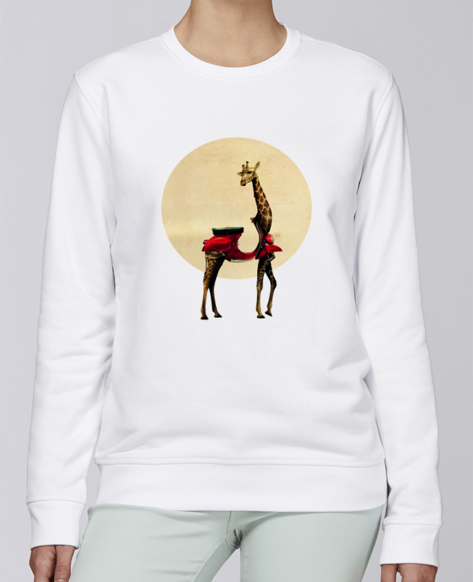 Unisex Sweatshirt Crewneck Medium Fit Rise Giraffe by ali_gulec