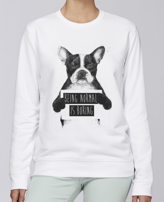 Unisex Sweatshirt Crewneck Medium Fit Rise Being normal is boring by Balàzs Solti
