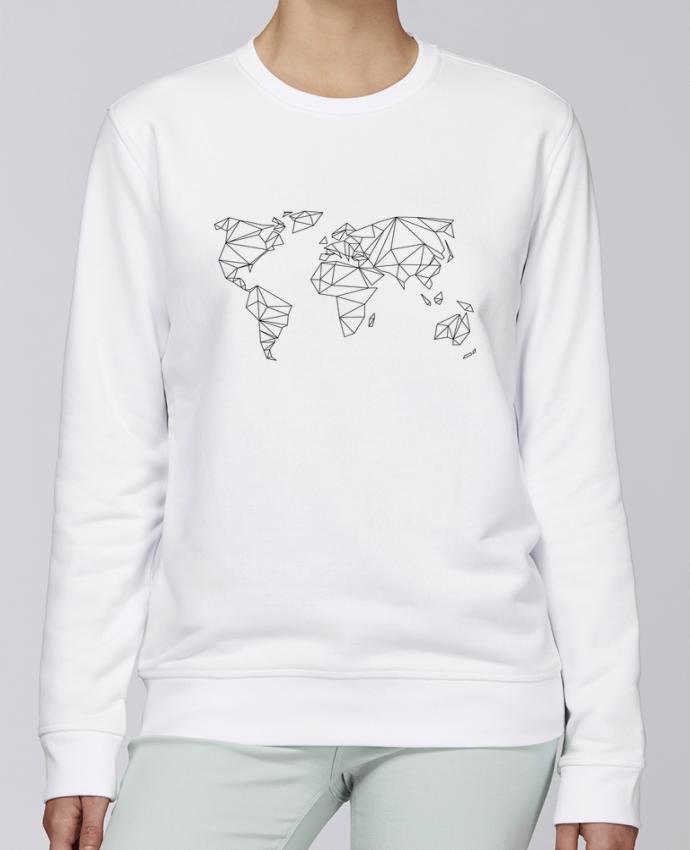Unisex Sweatshirt Crewneck Medium Fit Rise Geometrical World by na.hili